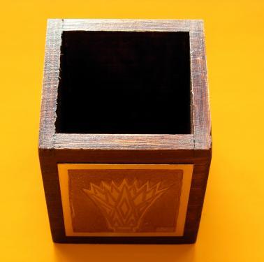 Lotus  Pot � crayons 6,5x6,5x8h