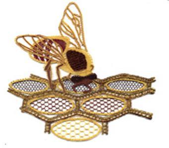 L'abeille en dentelle