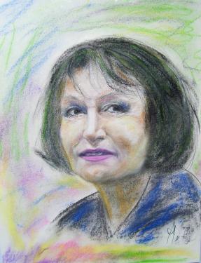 Marta Kubisova, chanteuse tchèque, pastels
