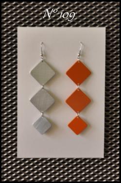 Bijoux en aluminium N°106 à 109, suivant dimension, de Longueur de 7 à 9 cm Plusieurs couleurs disponibles, et personnalisables.