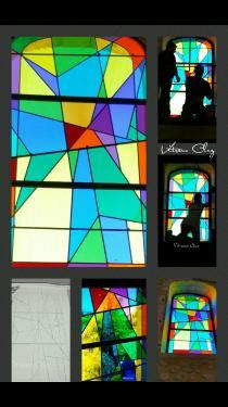 Création pour temple d'après le logo de l'église réformée de France (Gard)