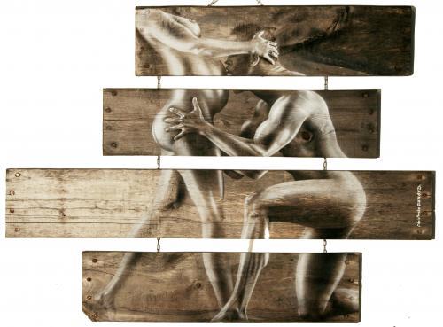 OSMOSE PEINTURE ACRYLIQUE AÉROGRAPHE sur bois