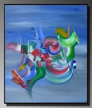 CHIMERE Taille : 46x55 Peinture abstraite   Acrylique au couteau/pinceau Toile sur châssis bois Cotation Drouot Site officiel : http://www.mapeinturesurtoile.com Prix : me contacter