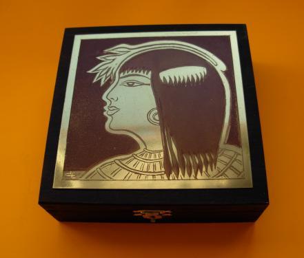 Boîte à bijoux l'Egyptienne 14x14x4,5h