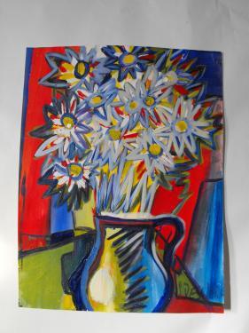 bouquet aux fleurs blanches