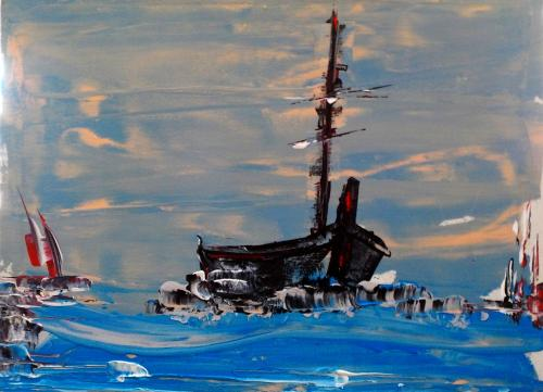 la barque (40x30 cm)