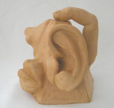 sculpture VOGOT : vue ouie gout odorat toucher -
