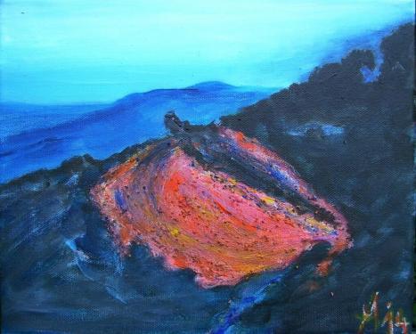 Etna, acrylique sur toile