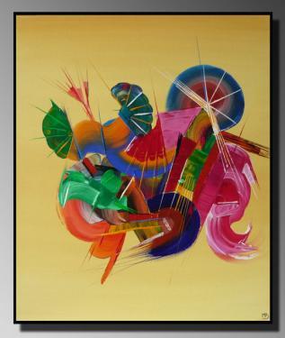 MUSIQUE Taille : 46X55 Peinture abstraite   Acrylique au couteau/pinceau Toile sur châssis bois Cotation Drouot Site officiel : http://www.mapeinturesurtoile.com Prix : me contacter