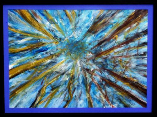 La couronne des arbres, acrylique sur toile