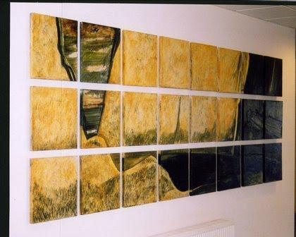 Assemblages en Lave Emaillée - à Courcouronnes Essonne - réalisé en 2003