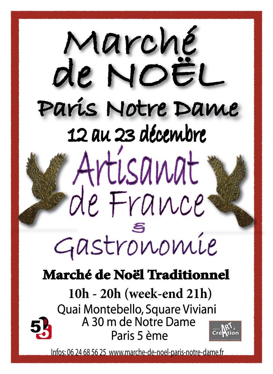 Actualité de Nina Petithalgatte L'Art et la Seine Marché de Noël Paris Notre Dame