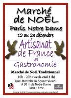 Marché de Noël Paris Notre Dame , Nina Petithalgatte L'Art et la Seine
