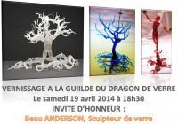 6e vernissage A la Guilde du Dragon de Verre : Invité d'honneur Beau ANDERSON , ariane chaumeil Ar'Bords Essences - A la Guilde du Dragon de Verre