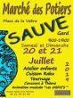 Marché de Potiers Céramistes Sculpteurs à SAUVE