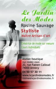 Logo de ROSINE SAUVAGE LE JARDIN DES MODES