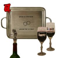 Actualité de sarl Etain des Vieux Moulins Set de 2 verres à vin pour couple