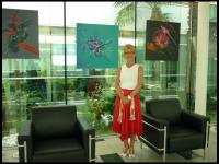 Actualité de BELFODIL Martine La Peintre Martine BELFODIL expose chez OGER INTERNATIONAL