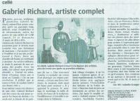 Actualité de RICHARD Gabriel 3 PORTES OUVERTES A mon Atelier de CELLE (41360)