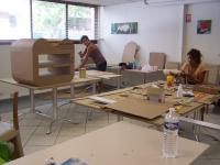 Atelier de formation à la fabrication de meuble en carton et papier mâché , BERNARD Marc - MULTI-ARTIS