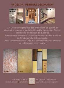 Logo de alexandre rabory AR DECOR - Peinture de décoration