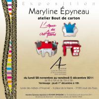 Actualité de Maryline Epyneau Maryline imagine ...Atelier bout de carton  Exposition Espace Créateur du Lycée Arsonval