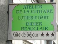 Actualité de Didier BEAUCLAIR ATELIER DE LA CITHARE Journées des métirs d'art