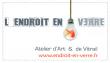 Logo de Julie GARCIA L'ENDROIT EN VERRE atelier d'art et de vitrail