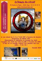 JEMA , les Métiers d'Art en scène  , Christelle MAHE  Le Temps du Vitrail