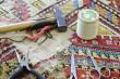 Logo de anne cauderlier artisan-restauratrice de tapis