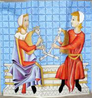 expostion d'une tapisserie enluminure , MOREAU jean-marie