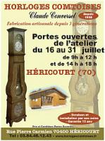 Journées Portes ouvertes à notre atelier d'Héricourt , Horloges Comtoises Claude Converset