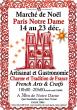 MARCHE DE NOEL Paris NOTRE DAME art de vivre et made in France