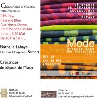Actualité de Nathalie Lahaye- Mangold Nathalie Lahaye Création La Mode s'expose au Passage Bleu