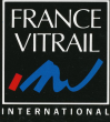 Logo de contact restauration Serge Koresski contact création Claude Bonte  ERIC BONTE maitre verrier  FRANCE VITRAIL INTERNATIONAL