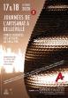 JOURNÉES DE L'ARTISANAT À BELLEVILLE