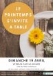 Le Printemps s'invite à table