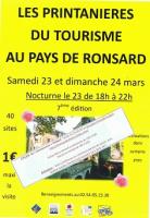 LES PRINTANIERES DU TOURISME DANS LE PAYS DE  RONSARD TERNAY 41800 , NICOLE BOURGAIT CONCEPT VEGETAL